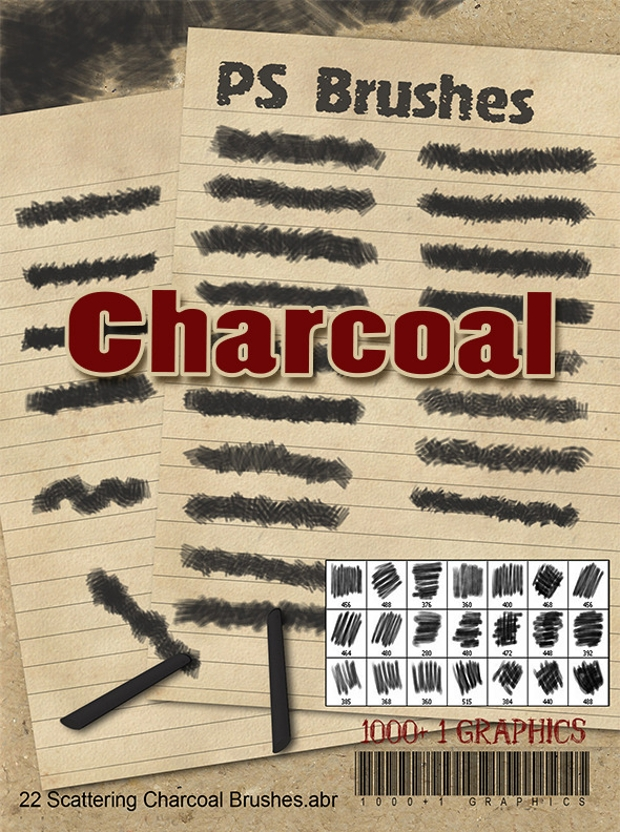 charcoal ps brushes
