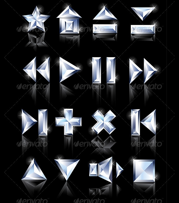 shiny diamond icons