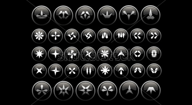 diamond and jewelry icons set