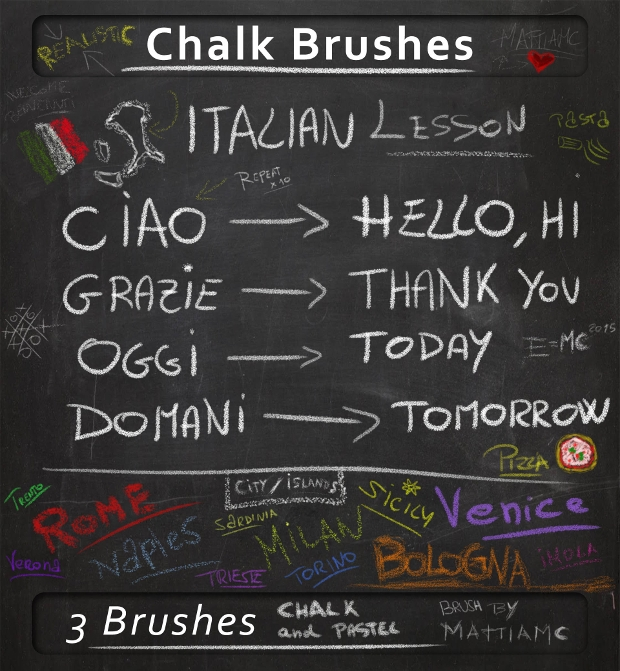 psd chalk brushes download
