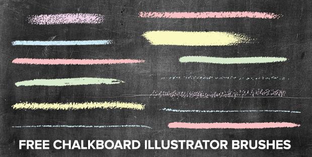Free Chalk Illustrator Brush Set