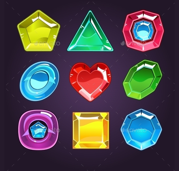 gems and diamond icons