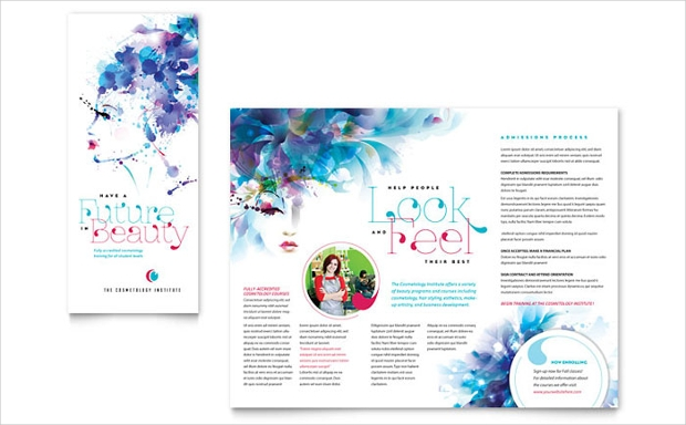 22  beauty and cosmetic brochure designs template