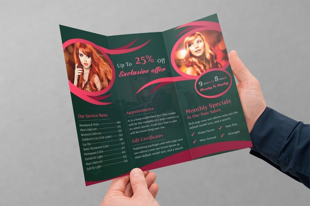 Beauty Center Tri-fold Brochure