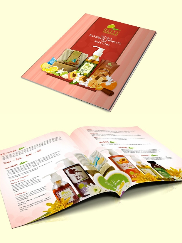 olive cosmetics brochure