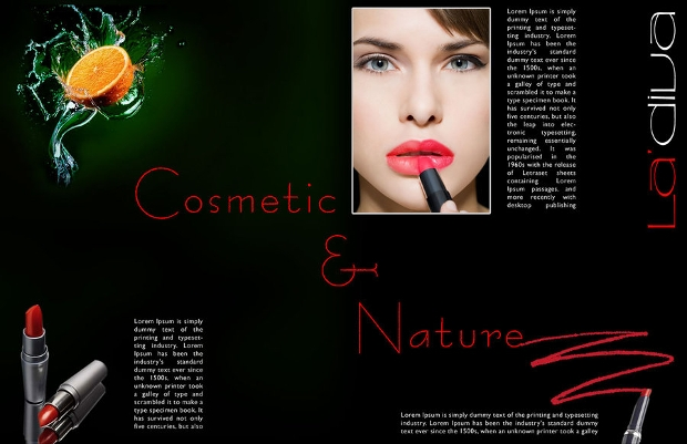 Stylish Cosmetic Brochure
