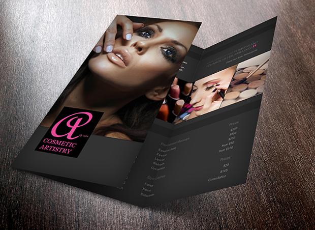 cosmetic artistry brochure