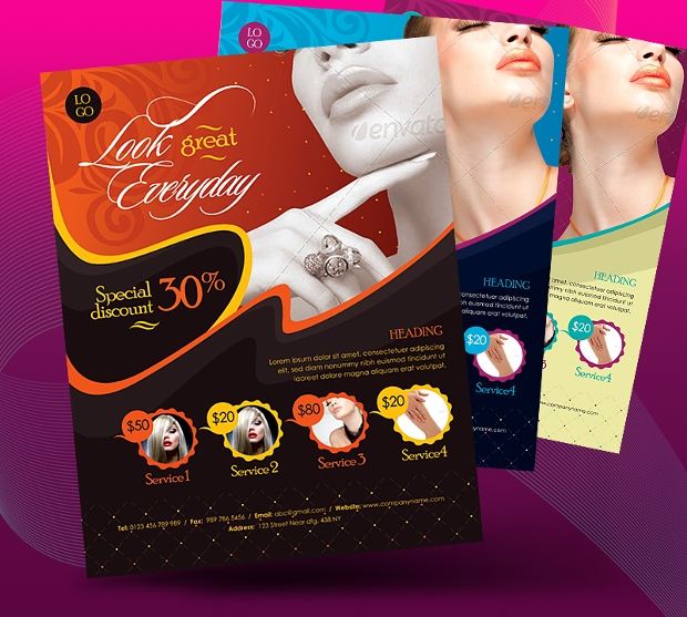 Beauty Saloon Business Promotional Flyer