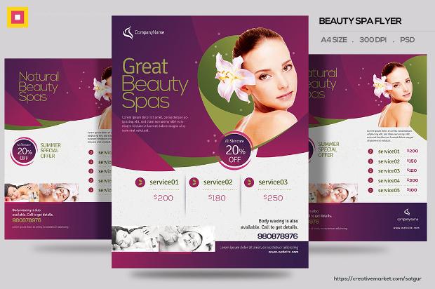 Beauty Spa Promotion Flyer