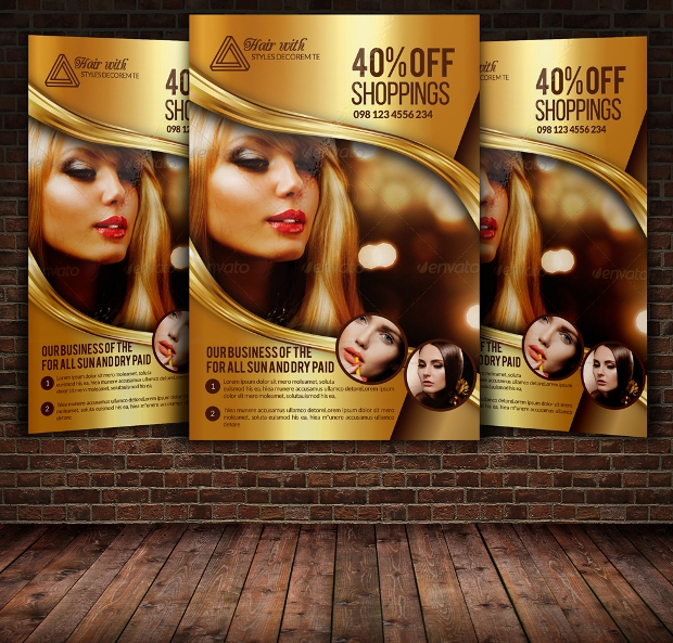 Hair Saloon and Beauty Care Flyer