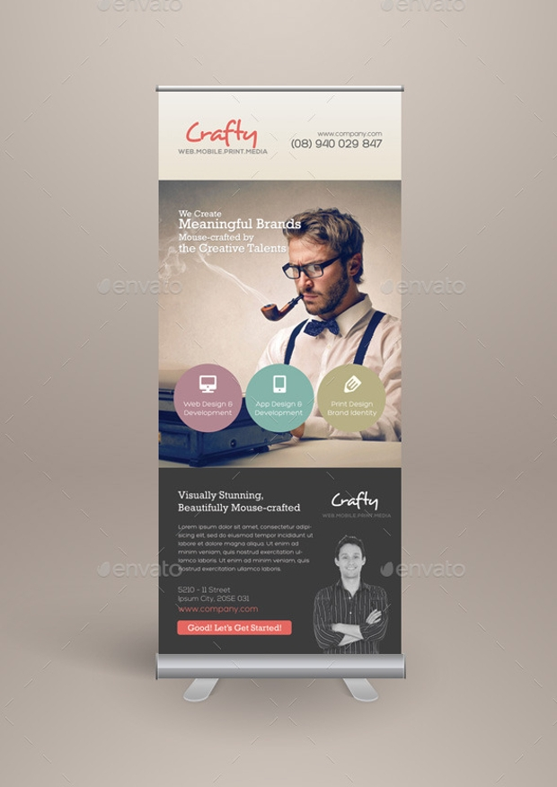 Creative Agency Roll up Banners