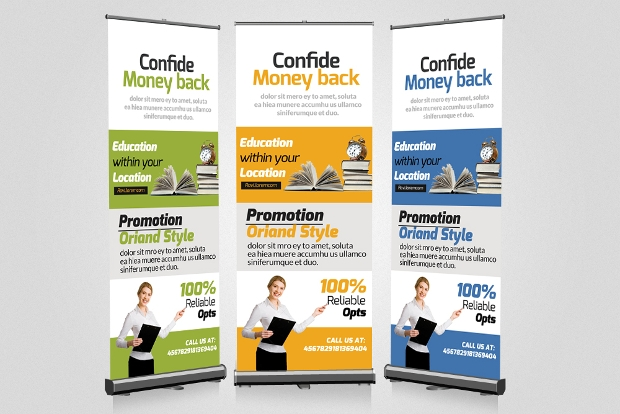 Roll up Education Banners