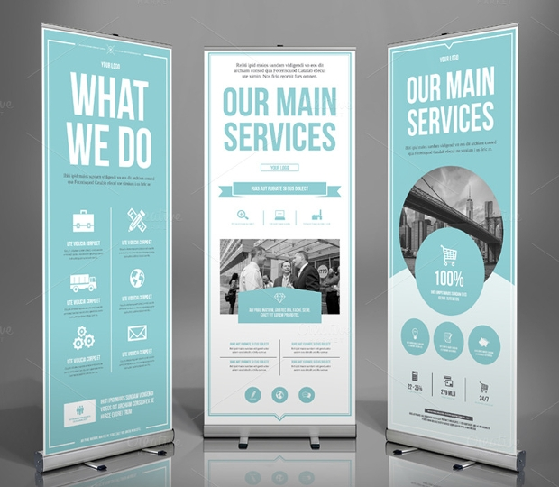 21 roll up banners free psd ai vector eps format