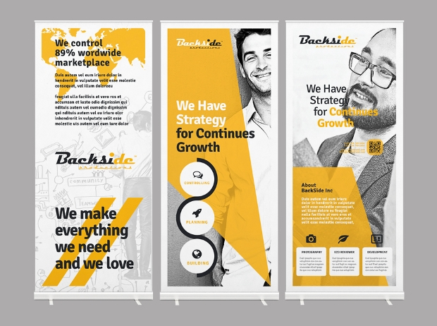 Roll Up Vector Banners