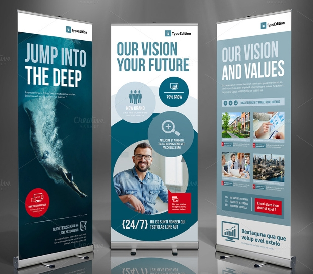 21  roll up banners