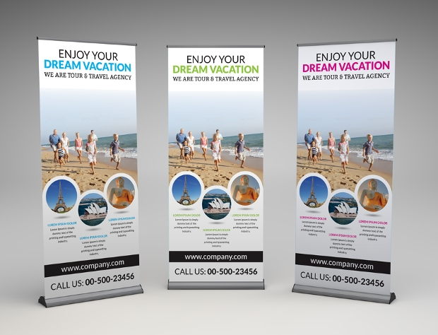 Dream Vacation Roll Up Banner Template