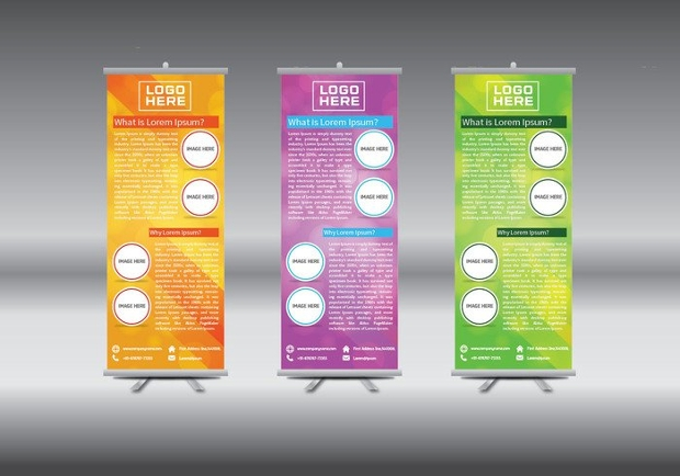 Abstract Geometric Roll Up Banner