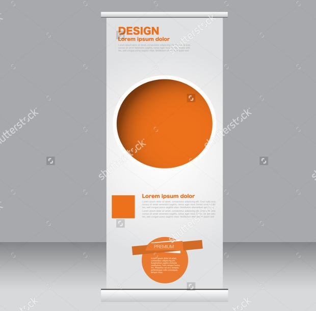 Abstract Background Rollup Banner