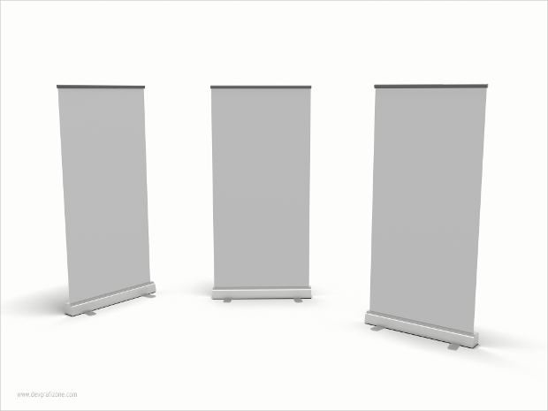 Pull up Stand 3D Roll-up Banner