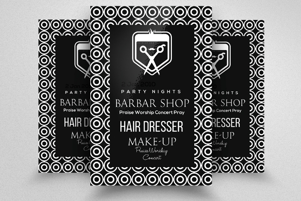 Black Barbershop PSD Flyer