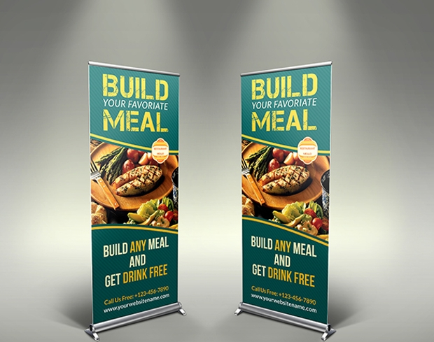 Restaurant Roll-up Signage Banner