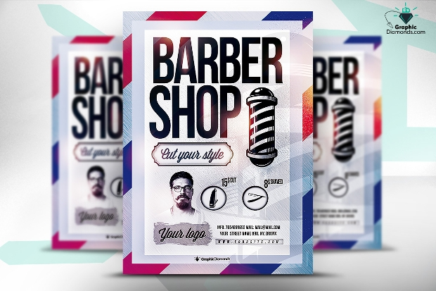 Barbershop PSD Flyer Template