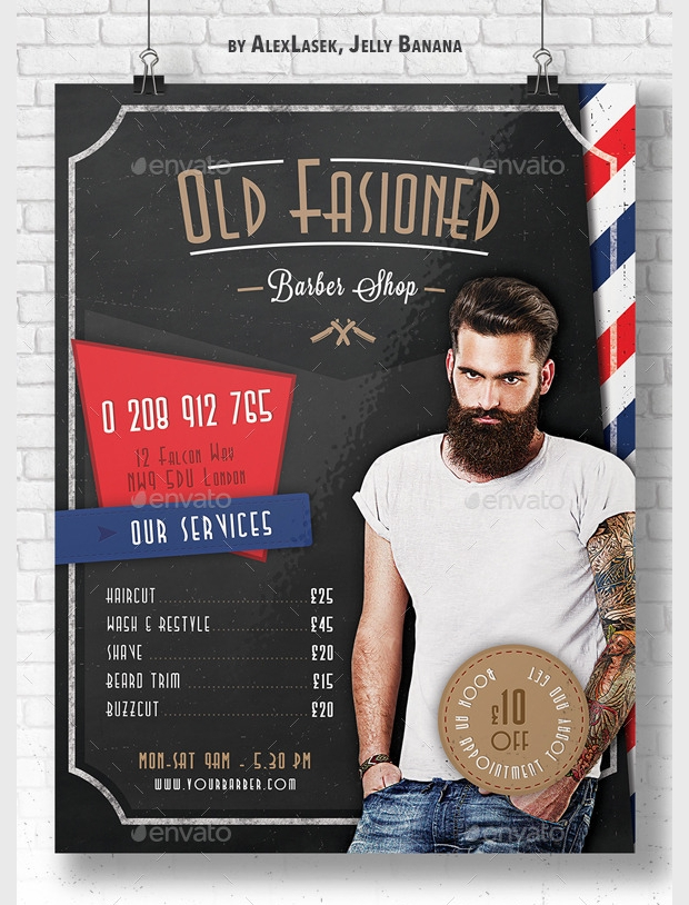 Old Fashioned Barbershop Flyer