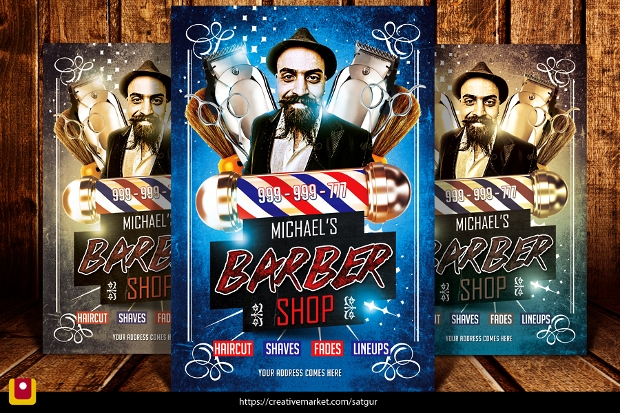 Cool Barbershop Flyer Template