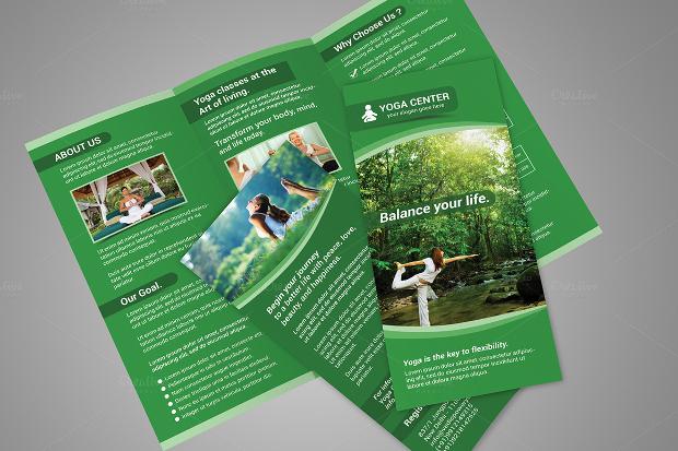 yoga tri fold brochure