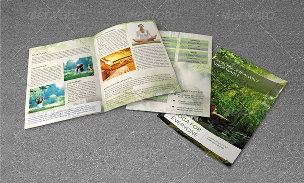 Bi-fold Yoga Center Brochure