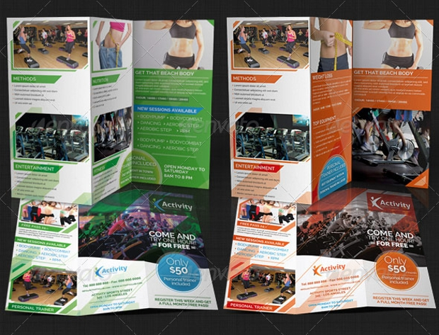 Fitness and Gym Brochure Design