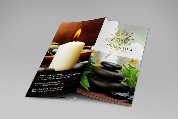 Tri-fold Yoga Massage Brochure