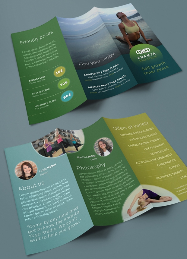 Yoga Brochures  Free Psd Ai Indesign Vector Eps Format