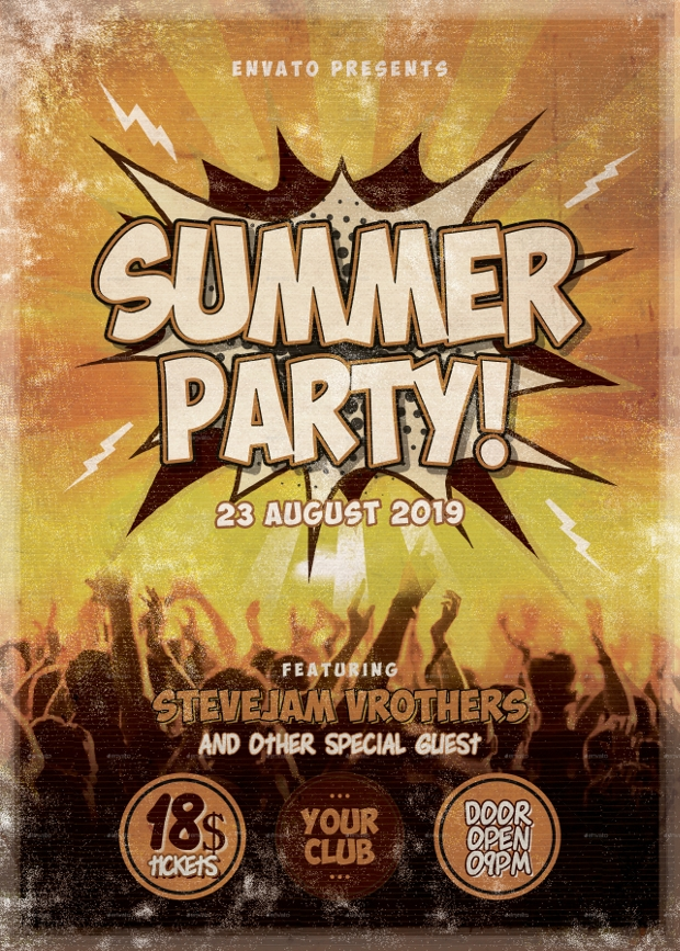 Summer Party Club Flyer