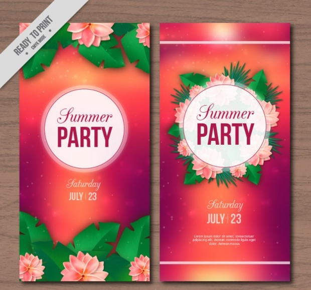 Floral Summer Party Flyer