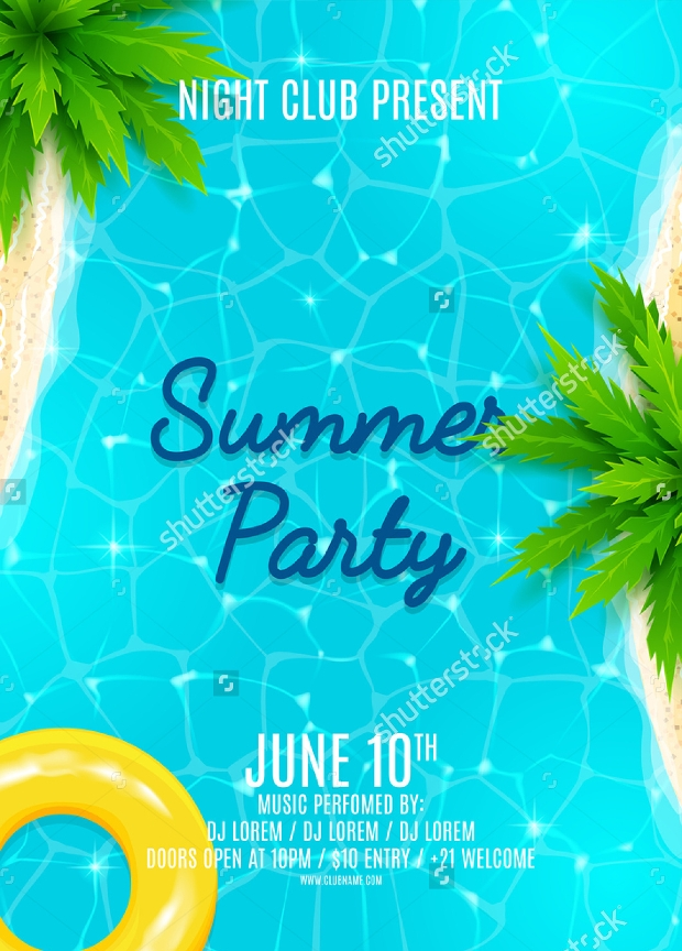 Beautiful Summer Party Flyer