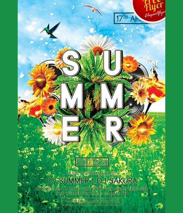 Green Summer Party Flyer
