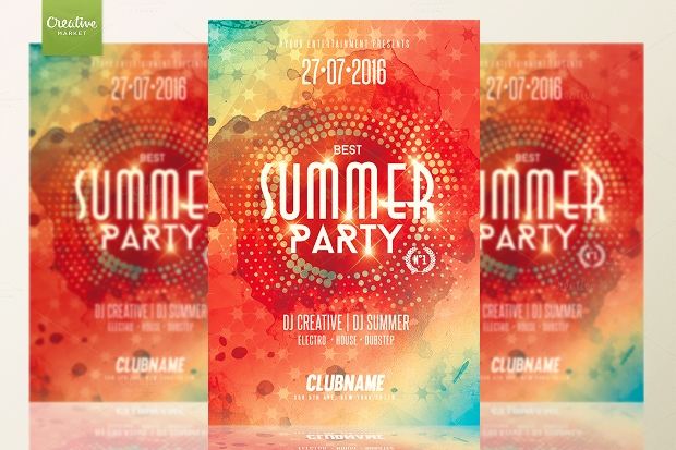 Holiday Summer Party Flyer
