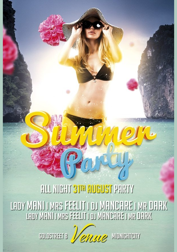 Summer Cool Beach Party Flyer