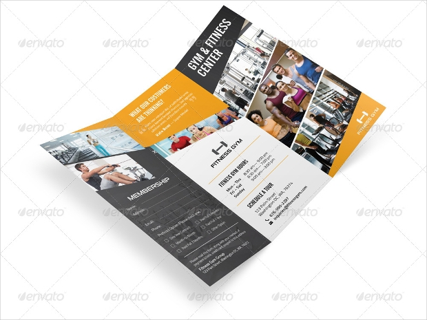 18 Fitness Brochures Free PSD AI InDesign Vector EPS Format – Gym Brochure