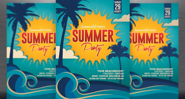 20 summer party flyer templates printable psd ai vector eps