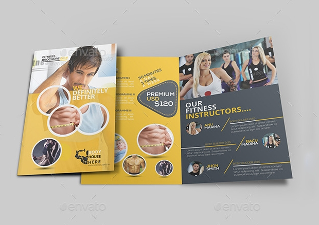 Fitness Brochures  Free Psd Ai Indesign Vector Eps Format