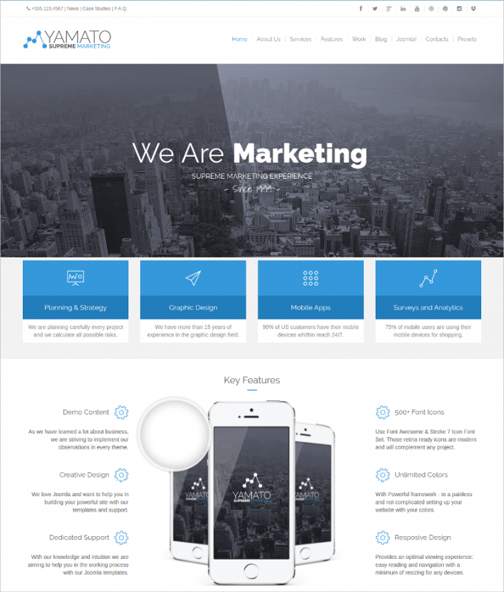 Quick Start Ultimate Marketing Joomla Template