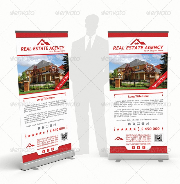 Real Estate Agency Rollup Banners