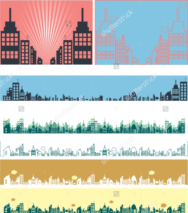 Real Estate Vector Banners