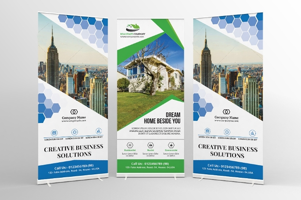 Real Estate and Corporate Rollup Banners
