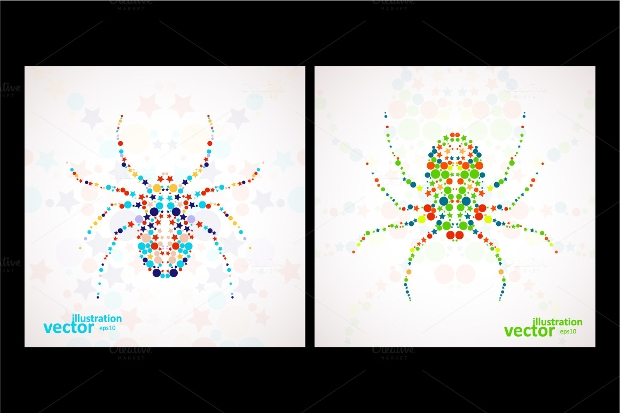 abstract spider cartoon vector