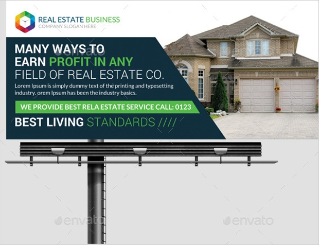 Real Estate Billboard Banner Template