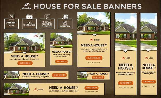 House For Sale Real Estate Banners