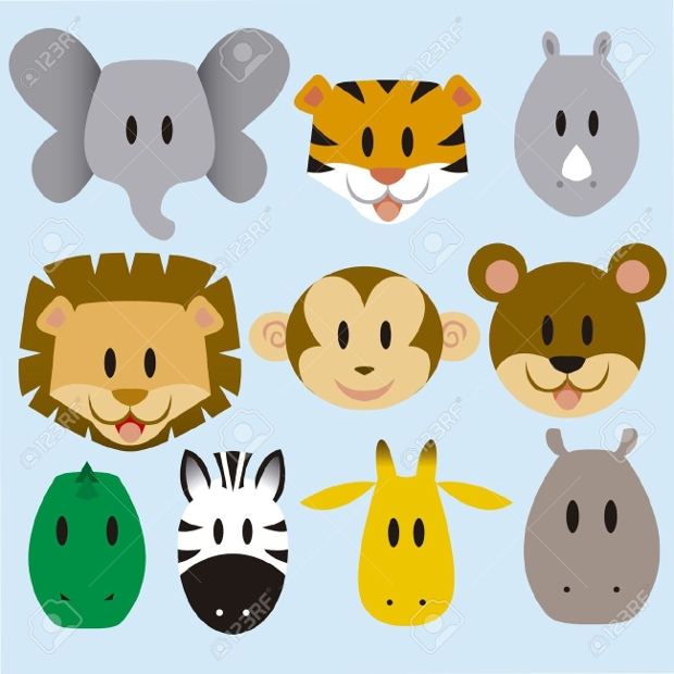 cute cartoon wild animal vector